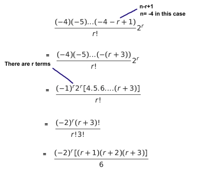 binomial series solution