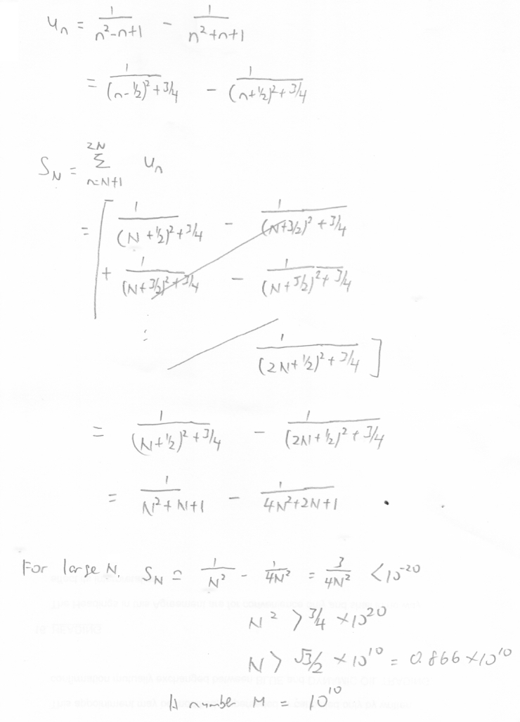 Challenging sequence and series solution