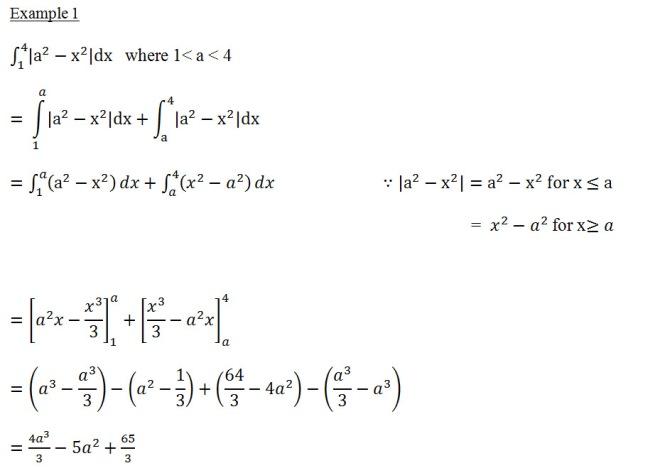 definite integral 1