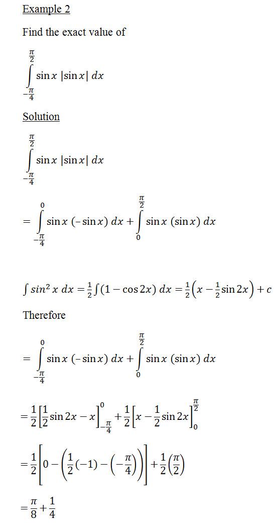 definite integral 2