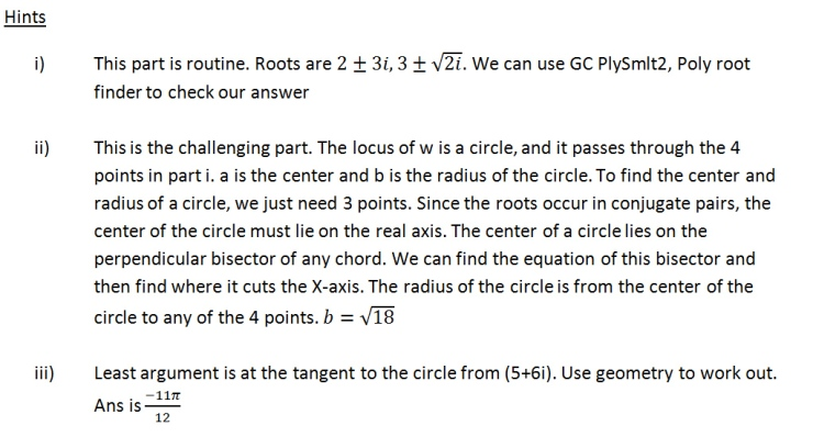 complex number circle