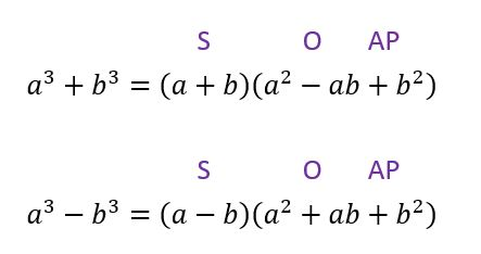 sum and difference of two cubes